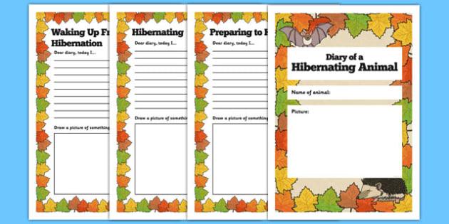 Hibernation Diary Template - hibernation diary, hibernation, diary, template