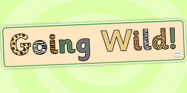 Going Wild Topic Display Banner - going wild, display banner, jungle, jungle display banner, going wild jungle display banner, jungle banner