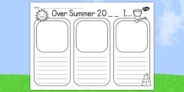 Summer Holiday Writing Template - holidays, writing frames, write