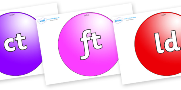 Final Letter Blends on Spheres - Final Letters, final letter, letter blend, letter blends, consonant, consonants, digraph, trigraph, literacy, alphabet, letters, foundation stage literacy