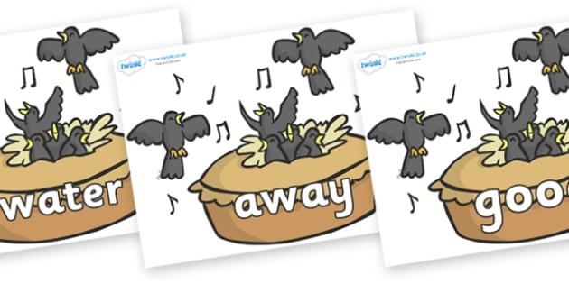 Next 200 Common Words on Blackbirds in a Pie - Next 200 Common Words on  - DfES Letters and Sounds, Letters and Sounds, Letters and sounds words, Common words, 200 common words