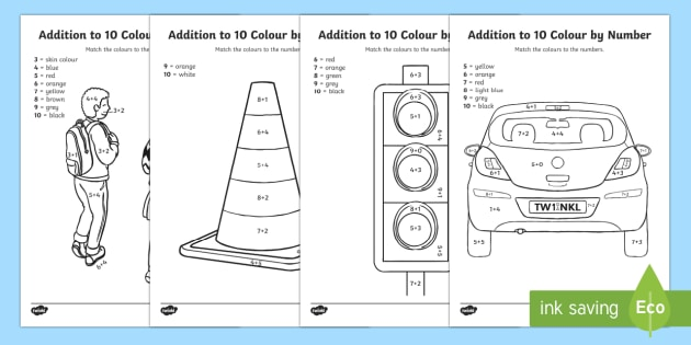 Road Safety Addition to 10 Colour by Number