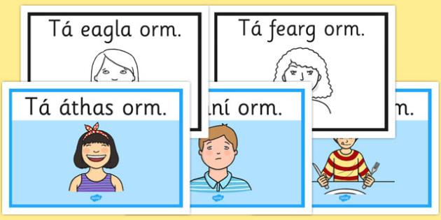 Feelings A4 Posters Gaeilge - roi, gaeilge, feelings, posters, emotions