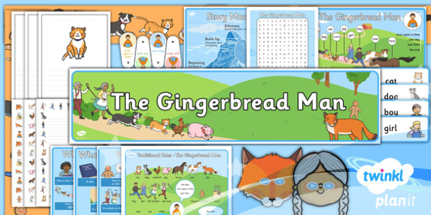 PlanIt Y2 The Gingerbread Man Additional Resources - traditional stories, traditional tales, display, wall