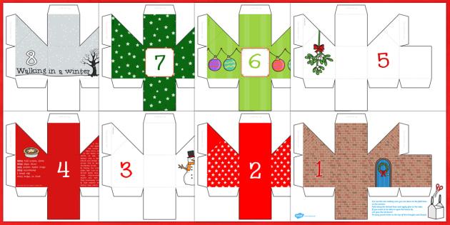 Advent Calendar (Boxes)  - advent, advent calendar, boxes, craft