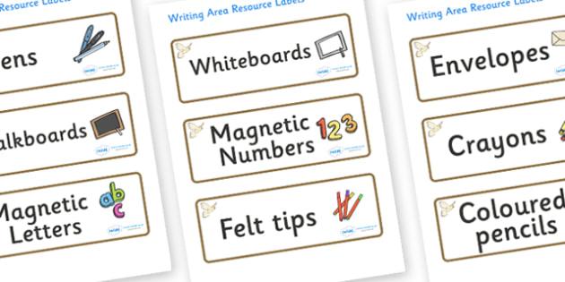 Kestrel Themed Editable Writing Area Resource Labels - Themed writing resource labels, literacy area labels, writing area resources, Label template, Resource Label, Name Labels, Editable Labels, Drawer Labels, KS1 Labels, Foundation Labels, Foundatio