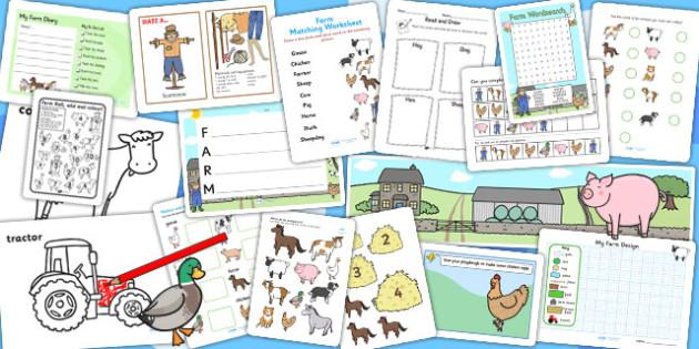 KS1 Farm Activity Pack - on the farm, farm games, game, activitiy