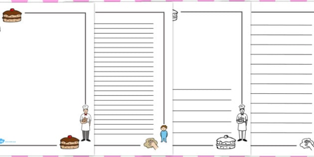 Pat a Cake Page Borders - border, writing, pages, frames, guide