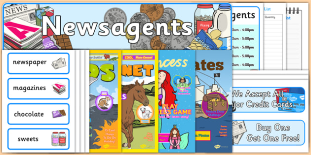 Newsagents Role Play Resource Pack