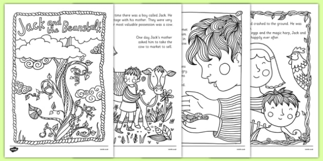 Jack and the Beanstalk Mindfulness Colouring Story - jack and the beanstalk, mindfulness colouring story, mindfulness, colouring, story, colouring story, colour