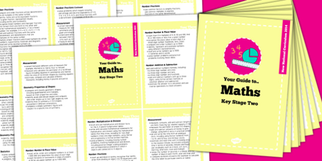 2014 Curriculum Cards KS2 Maths - new curriculum, planning