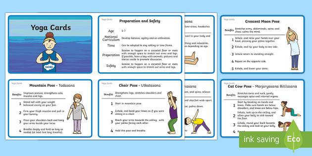 KS1 Yoga Information Cards