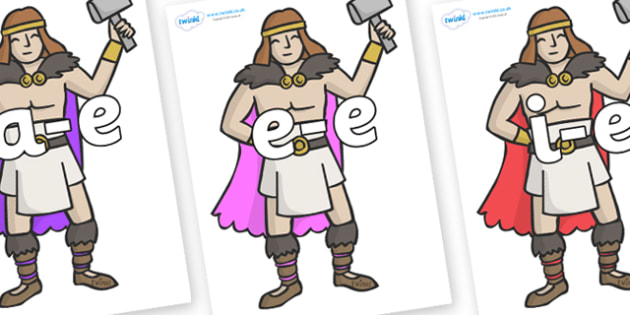 Modifying E Letters on Viking Warriors - Modifying E, letters, modify, Phase 5, Phase five, alternative spellings for phonemes, DfES letters and Sounds
