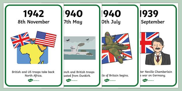 World War Two Timeline (A4) - World War Two, WW2, timeline, A4, history, war, world war, Nazi Germany, battle, soldiers, 1939, 1945, Pearl Harbour, Hitler