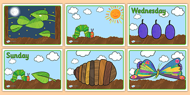 Story Sequencing to Support Teaching on The Very Hungry Caterpillar - The Very Hungry Caterpillar,  Eric Carle, resources, Hungry Caterpillar, life cycle of a butterfly, days of the week, food, fruit, story, story book, story book resources, story se