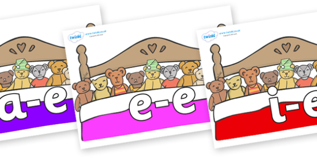 Modifying E Letters on Ten in a Bed - Modifying E, letters, modify, Phase 5, Phase five, alternative spellings for phonemes, DfES letters and Sounds