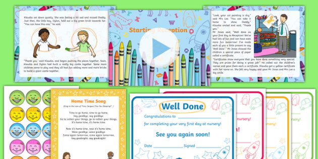 EYFS Starting Reception Editable PowerPoint Story and Resource Pack