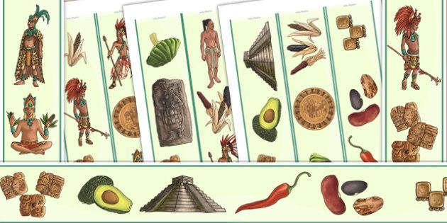 Mayan Civilization Display Borders - mayans, ancient maya, border