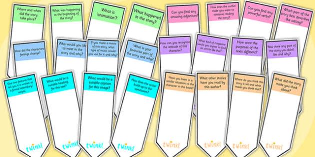 AF Guided Reading Question Bookmarks - assessment focus, assessment focus bookmarks, af bookmarks, assessment focus reading, assessment focus questions, af