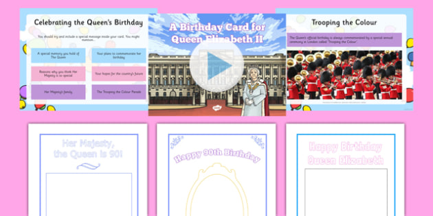 Designing The Queen's 90th Birthday Card Resource Pack