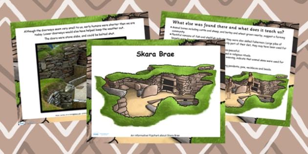 Skara Brae Stone Age Information Flipchart - skara brae, history