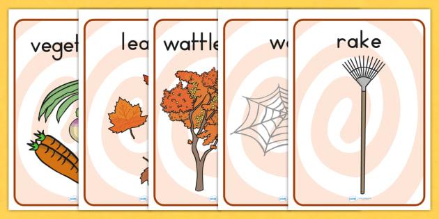Autumn Display Posters - seasons, weather, autumn display
