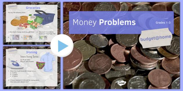 Budget at Home Money Problems PowerPoint GCSE Grades 1-3 - KS3, KS4, GCSE, Maths, Finance, Budget, Home