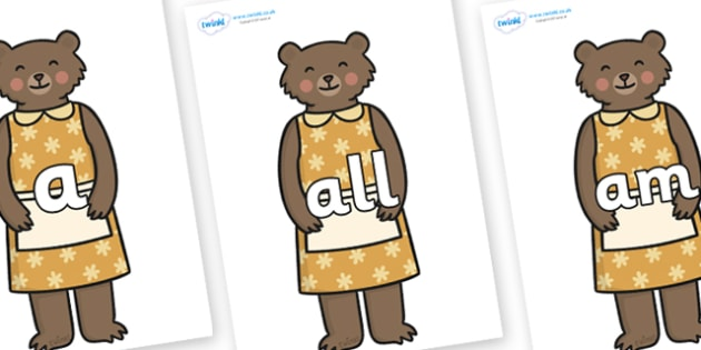 Foundation Stage 2 Keywords on Mummy Bear - FS2, CLL, keywords, Communication language and literacy,  Display, Key words, high frequency words, foundation stage literacy, DfES Letters and Sounds, Letters and Sounds, spelling