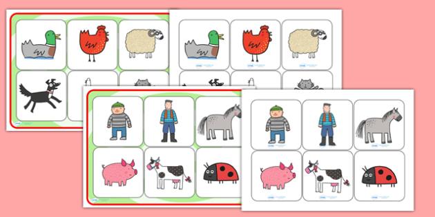 SEN Matching Mat to Support Teaching on What the Ladybird Heard - what the ladybird heard, matching mat, matching, SEN, matching activity, matching games, SEN activities