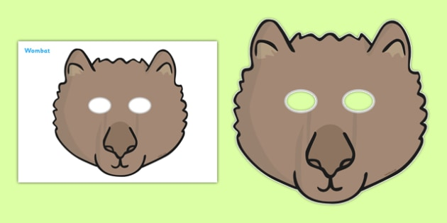 Wombat Role Play Masks