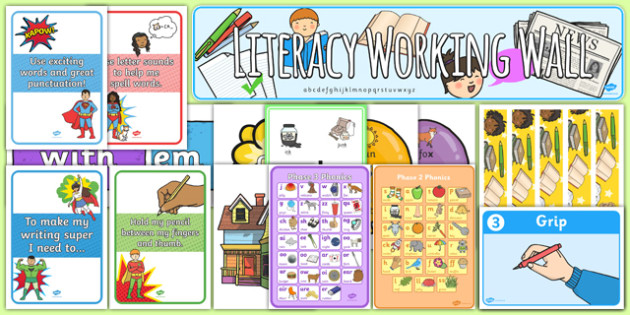 EYFS Literacy Working Wall Display Pack