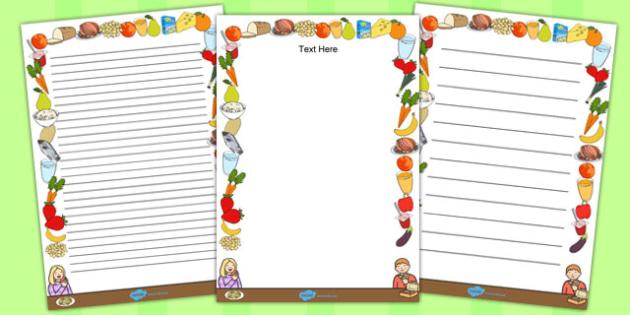 Healthy Eating Page Borders - health, healthy food, food, border