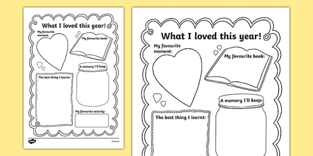 End of School Year Memory Writing Frame - end of school year, memory, writing frame