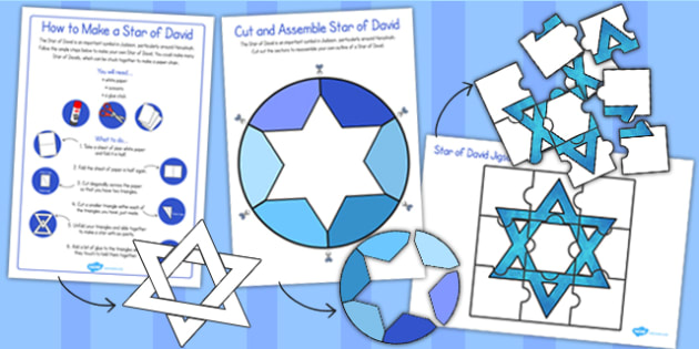 Star of David Jigsaw Set - star of david, jigsaw, judaism, star