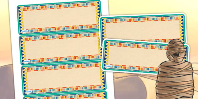 Ancient Egyptian Themed Editable Labels - egypt, ancient egypt