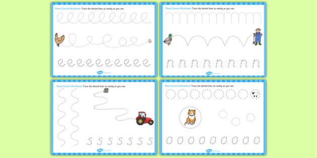 Farmer and Duck Pencil Control Sheets - Farmer duck, farmer duck pencil control, pencil control, farmer duck worksheets, pencil control worksheets