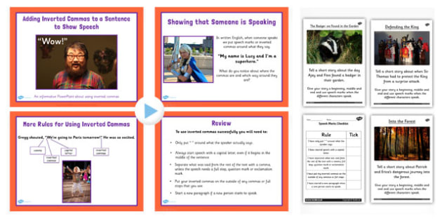 Adding Inverted Commas to a Sentence to Show Speech Lesson Teach