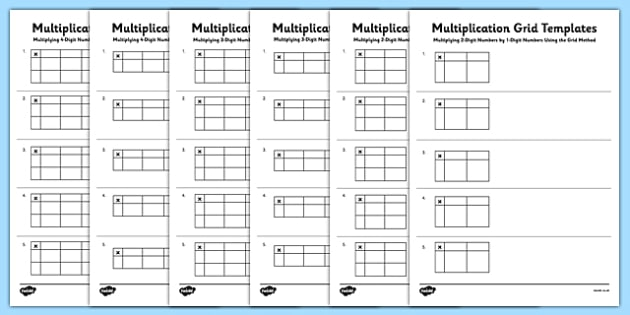 Multiplication Blank Multiplication Grid Printable Free Math – Blank Multiplication Grid Worksheet
