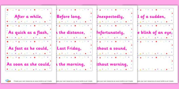 Fronted adverbials - KS2 Sentence Structure, English, Literacy, Writing, KS2 English