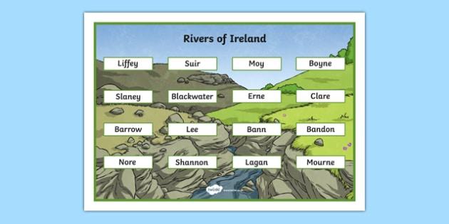 Rivers of Ireland Word Mat