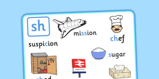 Alternative Spellings for sh Display Poster - alternative spellings for sh, display poster, sh display poster, alternative spelling for sh poster