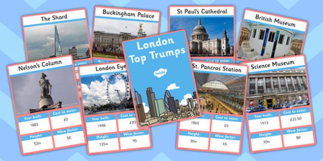 London Card Game - london, top trumps, card game, card, game
