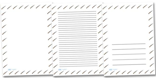 WW2 Rifle Portrait Page Borders- Portrait Page Borders - Page border, border, writing template, writing aid, writing frame, a4 border, template, templates, landscape