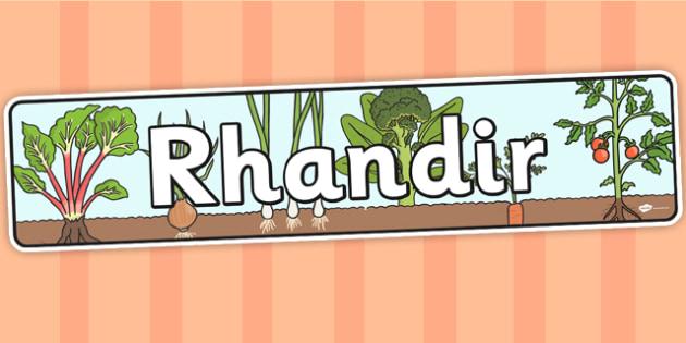 Baner 'Rhandir' - welsh, topic, banner, cymraeg