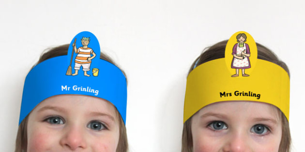 Role Play Headbands to Support Teaching on The Lighthouse Keeper's Lunch - roleplay, prop