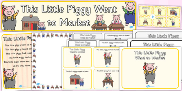This Little Piggy Resource Pack - this little piggy, resource pack, pack of resource, themed resource pack, this little piggy pack, resource, nursery rhyme