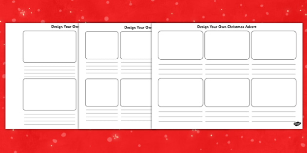 Design Your Own Christmas Advert Activity Sheet - design, christmas, advert, activity, worksheet