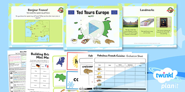 PlanIt - Geography KS1 - What a Wonderful World Lesson 5: Ted Tours Europe! Lesson Pack