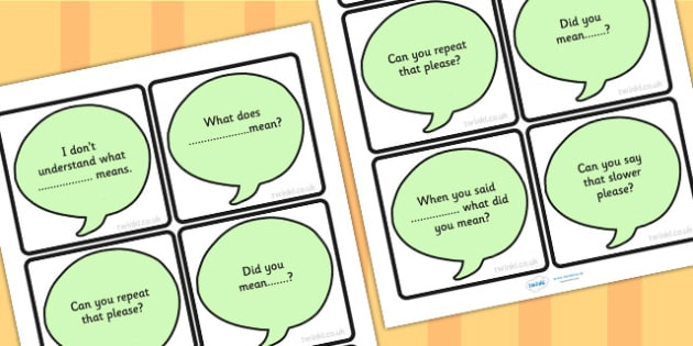 Prompt Cards For Clarification - reflect, support cards, prompts