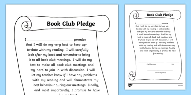 Book Club Pledge-Scottish
